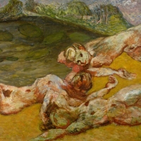 The Lake, 1952/53, Oil on canvas, 142 x 173 cm, Southampton Art Gallery