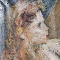 Head of a Woman, 1952, Oil on canvas, 51 x 41 cm, The Simonnow Collection