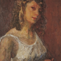 Helen, 1947-48, Oil on canvas, 6 x 51 cm, The Simonow Collection