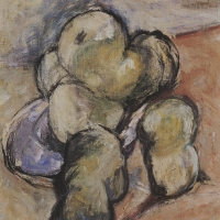 Green Apples, 1958, Oil on cnvas, 66 x 43 cm, The Simonow Collection