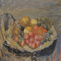 Fruit in a Yellow Dish, 1956, Oil on canvas, 63 x 76 cm, The Simonow Collection