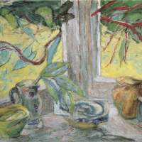 Pottery on Window Sill, 1956, Oil on canvas, 76 x 102 cm, Private collection