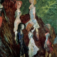 Girls in Val di Castello, 1962, Oil on canvas, 107 x 81 cm, Gotlib Family Collection