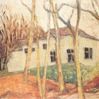 White House in South Godstone, 1953, Oil on canvas, 63.5 x 76 cm, The Simonow Collection