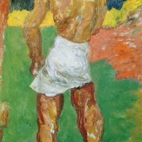 Model Dressing, 1966, Oil on canvas, 76 x 127 cm, The Simonow Collection
