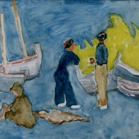 Fishermen in Collioure, 1948, Oil on canvas, 91 x 66 cm, Private collection