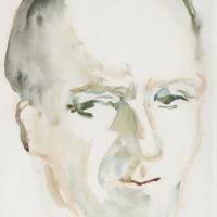 Portrait of a Man, pre 1934, Watercolour, 29 x 23.9 cm, The Simonow Collection