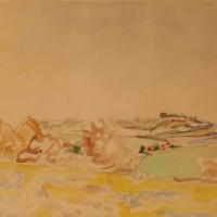 Landscape near Rye, 1939, Watercolour on paper, 25.5 x 35.5 cm, Gotlib Family Collection