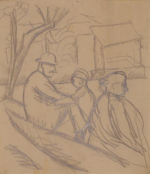 Three People Under A Tree