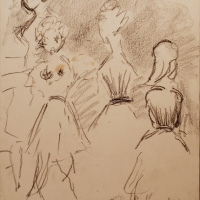 Lucca, 1962, Crayon on paper, 34 x 25 cm, Gotlib Family Collection