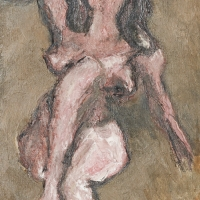 Nude, 1964, Oil on canvas, 46 x 36 cm, The Simonow Collection