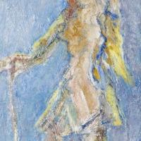 Farm Worker, 1964-65, Oil on canvas, 51 x 25 cm, The Simonow Collection
