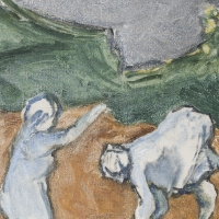 Women Working in a Field, 1964, Oil on canvas, 36 x 46 cm, The Simonow Collection