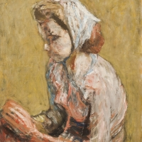 Girl with Scarf on Head, 1960, Oil on canvas, The Simonow Collection