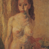 Standing Nude, circa 1943, Oil on canvas, 91 x 71 cm, The Simonow Collection