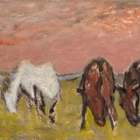 Horses, Undated, Oil on canvas, 36 x 48 cm, Private collection