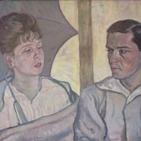 Beatrice and Adolfe Nunberg, 1915, Oil on canvas, 59.5 x 98.75 cm, Gotlib Family Collection