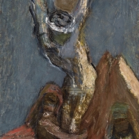 Crucifixion, 1960, Oil on canvas, 65 x 48 cm, Private collection