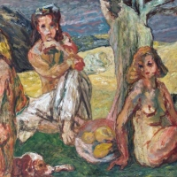 Three Nudes in a Landscape, 1953, Oil on canvas, 142 x 180 cm, Sainsbury Centre for Visual Arts - University of East Anglia