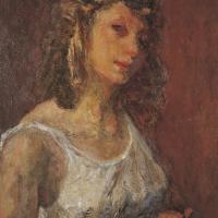 Helen, 1947-48, Oil on canvas, 6 x 51 cm, The Simonow Collection