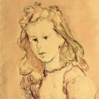Portrait of Nicolette, 1945, Mixed media, 55 x 38 cm, Gotlib Family collection