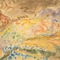 Val di Castello, 1960, Watercolour, 23 x 29 cm, Gotlib Family Collection
