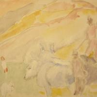 Siena, 1964, Watercolour, 38 x 51 cm, Gotlib Family Collection
