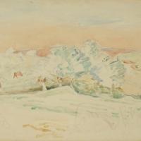 Cornwall, 1939, Watercolour, 35.5 x 50.5 cm, Gotlib Family Collection