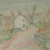 A Road in Cornwall, 1939, Watercolour, 25.5 x 30.5 cm, Gotlib Family Collection