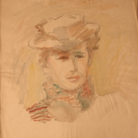 Untitled, 1942, Watercolour, 56 x 53 cm, Gotlib Family Collection